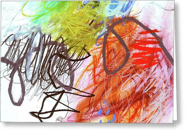 Crayon Scribble#2 Greeting Card by Jane Davies
