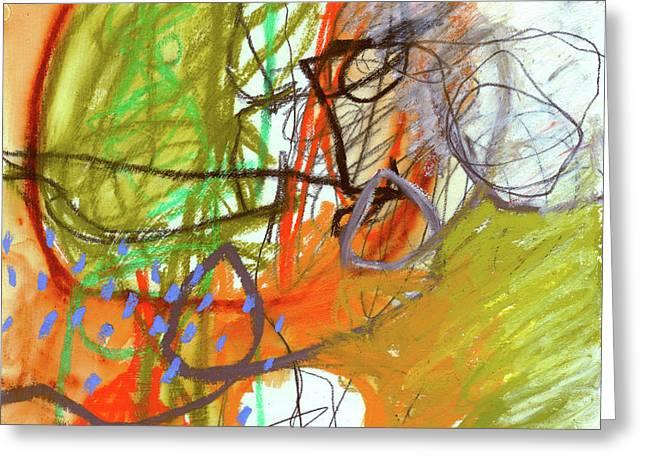 Crayon Scribble#3 Greeting Card by Jane Davies