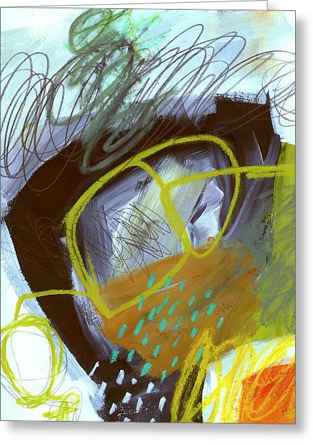 Crayon Scribble#5 Greeting Card by Jane Davies
