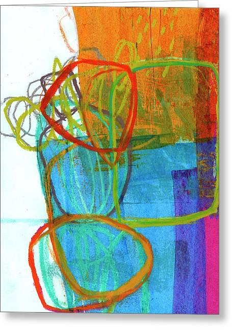 Crayon Scribble#8 Greeting Card by Jane Davies