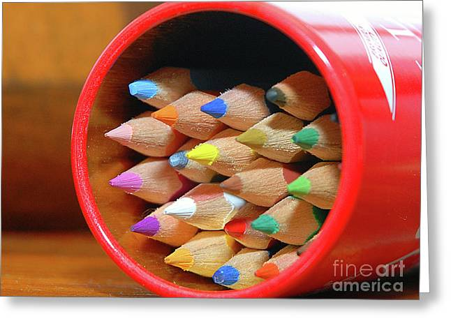Crayons Greeting Card by Graham Taylor