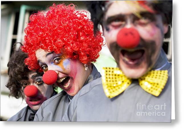 Crazy Circus Clowns Greeting Card by Jorgo Photography - Wall Art Gallery