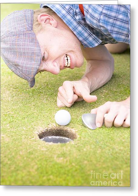 Crazy Golfer Greeting Card