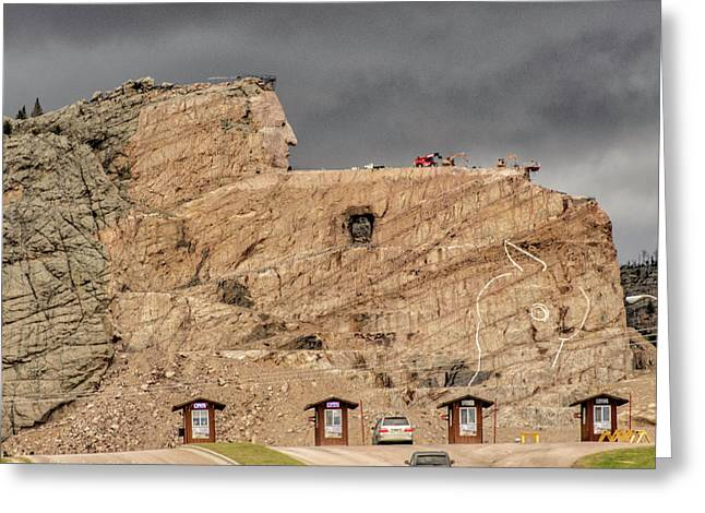 ...entrance Crazy Horse Memorial South Dakota.... Greeting Card