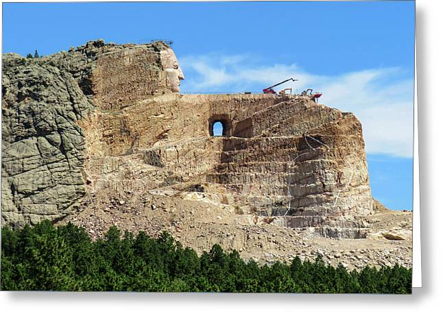 Crazy Horse Monument Greeting Card by Dawn Key