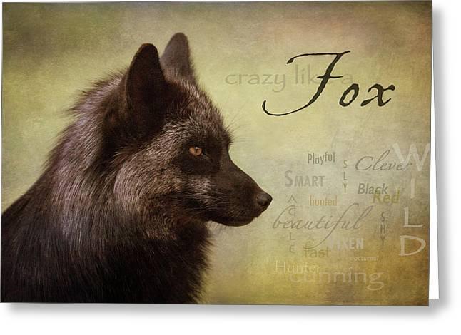 Crazy Like A Fox Greeting Card