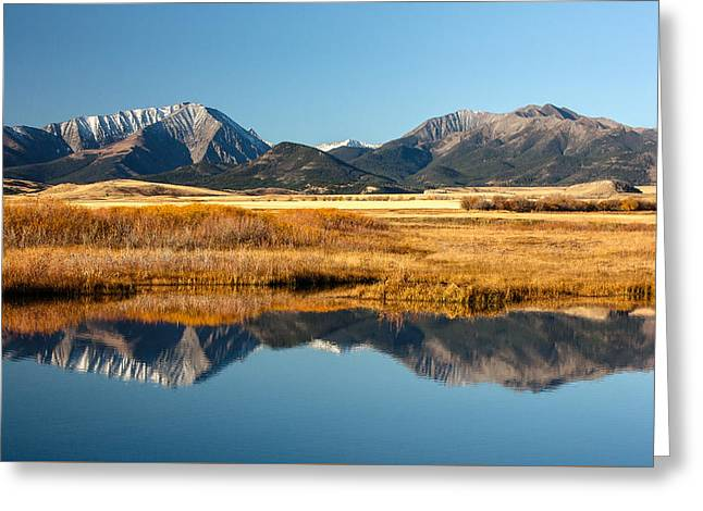 Crazy Mountain Reflections Greeting Card by Todd Klassy
