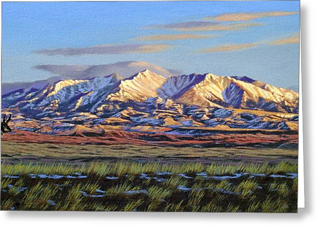 Crazy Mountains-morning Greeting Card by Paul Krapf