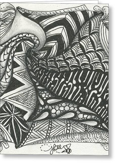 Crazy Spiral Greeting Card