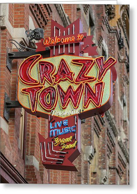Greeting Card featuring the photograph Crazy Town by Stephen Stookey