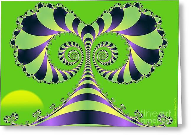 Greeting Card featuring the digital art Crazy Tree  by Sandra Bauser Digital Art