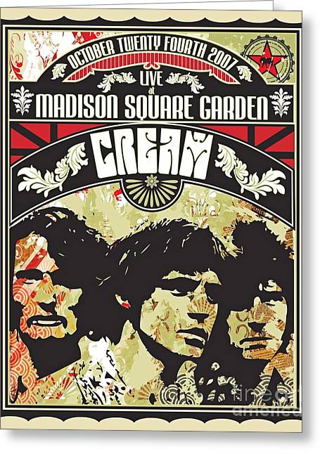 Cream Concert At Madison Square Gardens New York Greeting Card