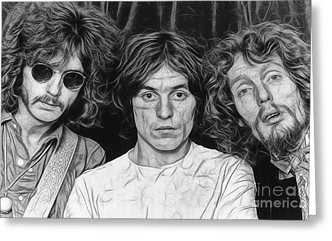 Cream Eric Clapton Collection Greeting Card by Marvin Blaine