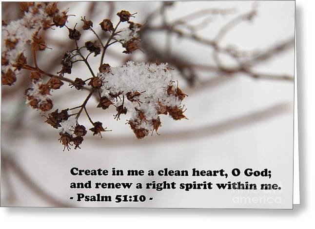 Create In Me A Clean Heart Greeting Card