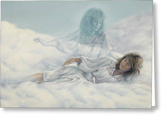 Creating A Body With Clouds Greeting Card by Lucie Bilodeau