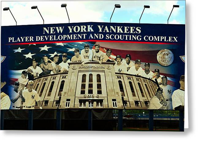 Creating Legends Ny Yankees Greeting Card by David Lee Thompson