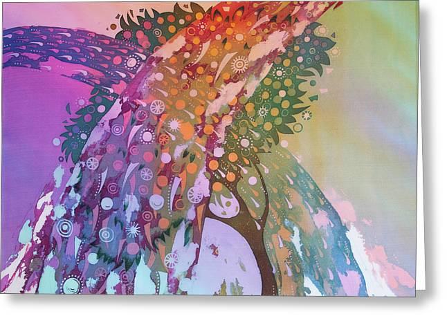 Creation Of An Orange Tree Greeting Card by Kate Krivoshey