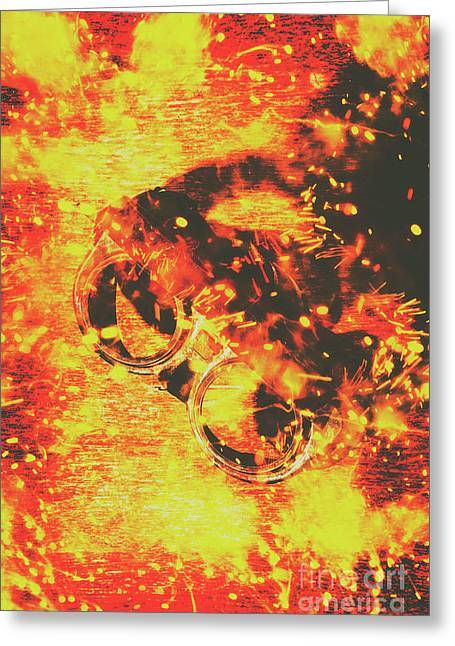Creative Industrial Flames Greeting Card