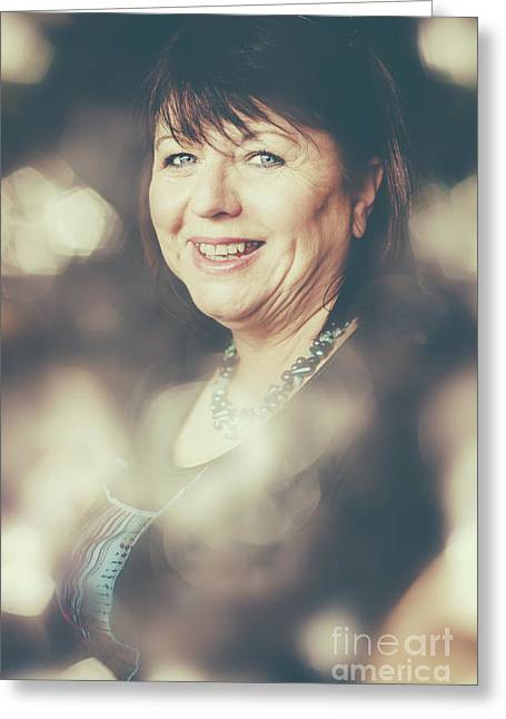 Creative Portrait Of A Middle-aged Business Woman Greeting Card by Jorgo Photography - Wall Art Gallery