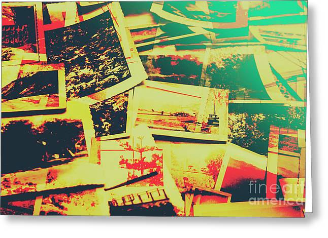 Creative Retro Film Photography Background Greeting Card