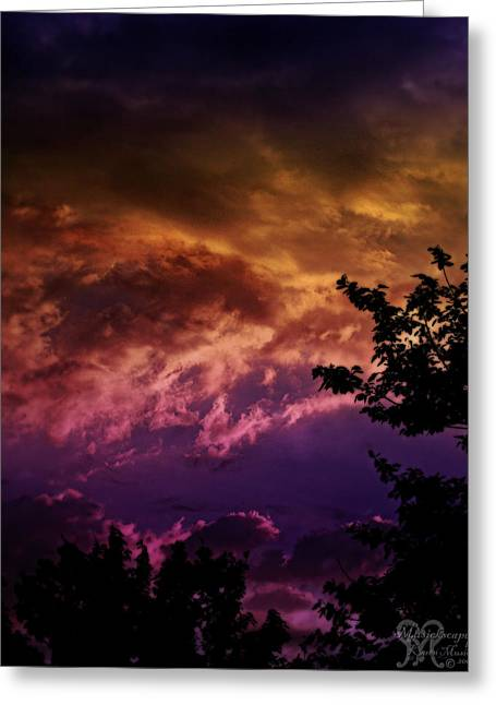 Greeting Card featuring the photograph Creative Sunset by Karen Musick