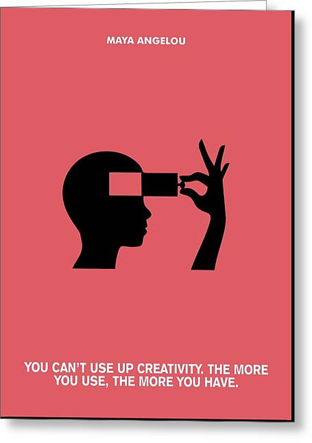 Creativity Maya Angelou Quotes Poster Greeting Card by Lab No 4 The Quotography Department