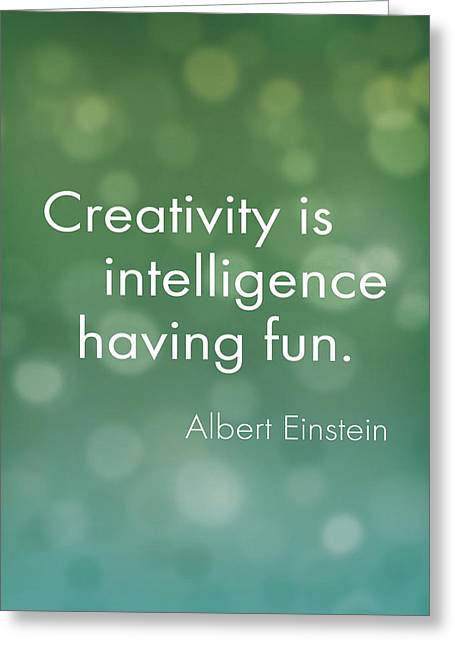Creativity Quote Greeting Card