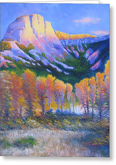 Creator Mountain Greeting Card by Gregg Caudell