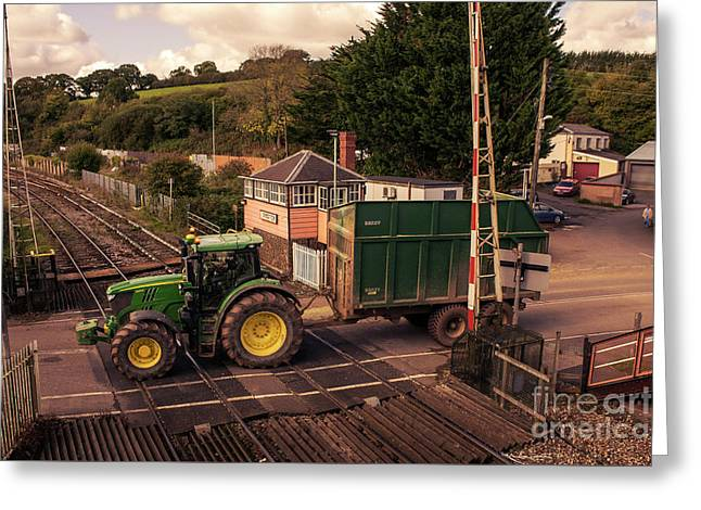 Crediton Tractor Crossing  Greeting Card