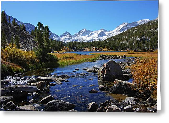 Creek At Little Lake Valley Greeting Card