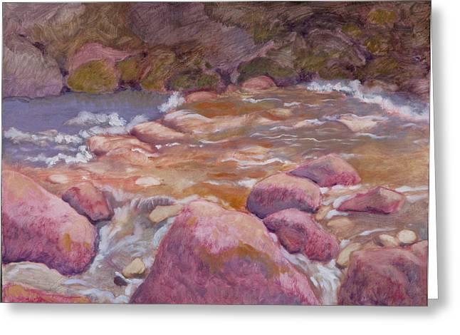 Creek In Spring Greeting Card by Robert Bissett