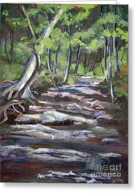 Creek In The Park Greeting Card