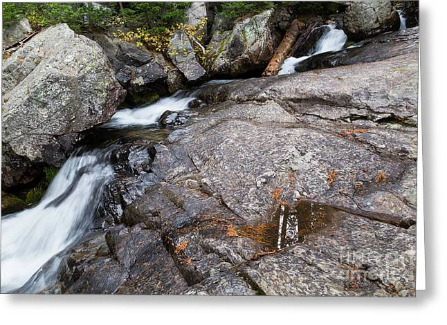 Creek Over Rocky Cascade Falls Greeting Card by Mike Cavaroc