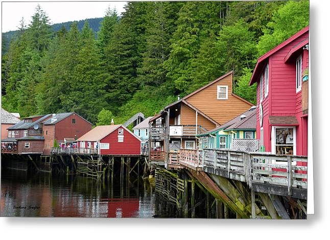 Creek Street Ketchikan Alaska Greeting Card by Barbara Snyder