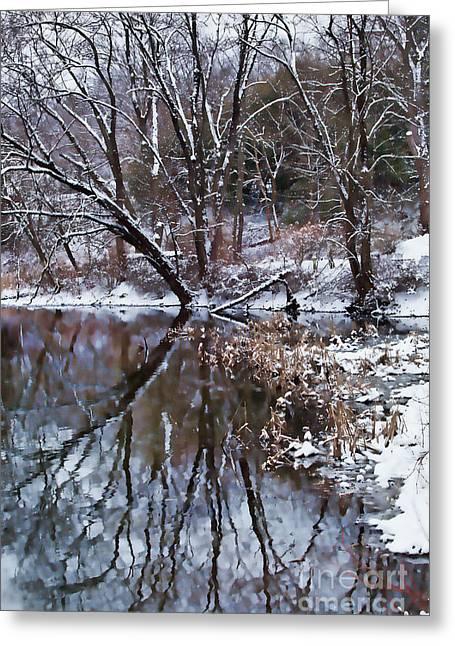 Creekside Greeting Card by Nicki McManus