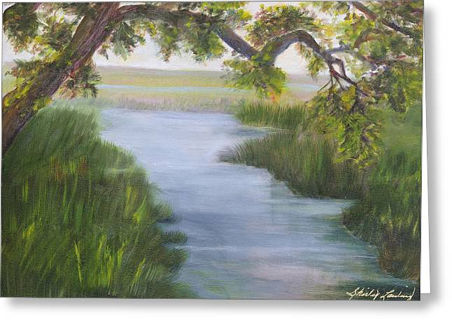 Creekside Greeting Card by Shirley Lawing