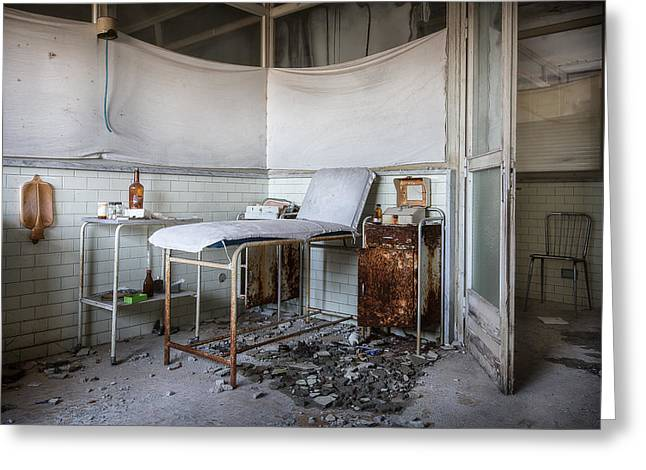 Creepy Exammination Room - Abandoned School Building Greeting Card