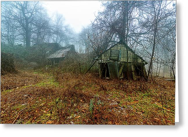 Greeting Card featuring the photograph Creepy House by Enrico Pelos