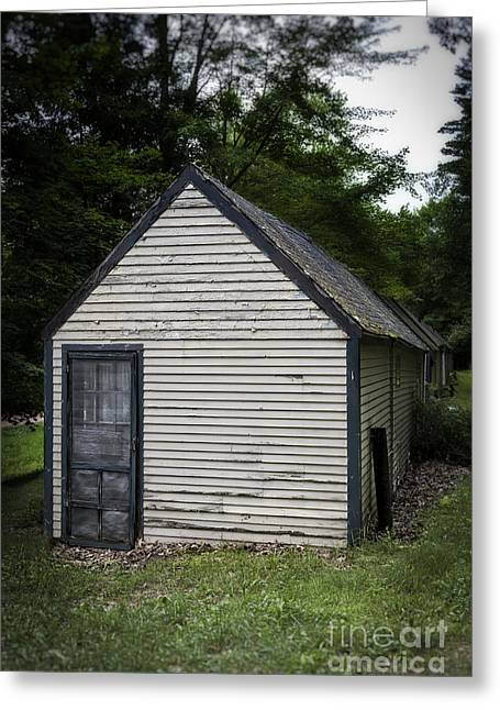Creepy Old Cabins Greeting Card by Edward Fielding