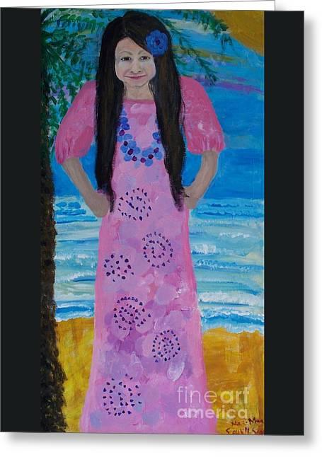 Creole Girl Greeting Card by Seaux-N-Seau Soileau