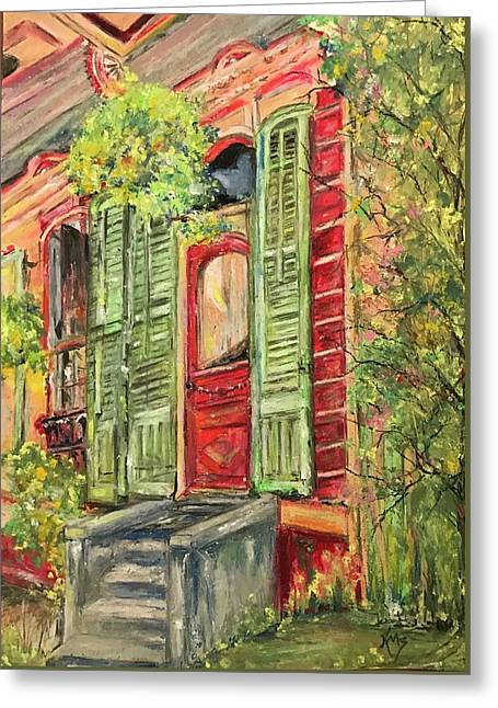 Creole Painted Lady In The Marigny Greeting Card