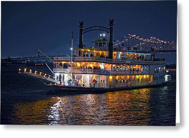 Creole Greeting Cards - Creole Queen Riverboat Greeting Card by Bonnie Barry
