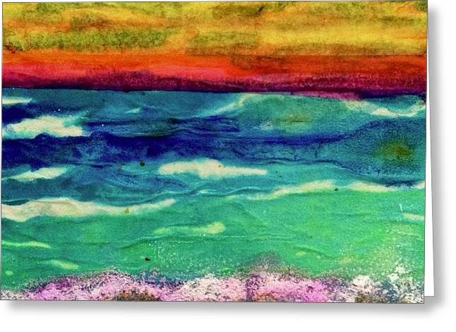 Crepe Paper Sunset Greeting Card