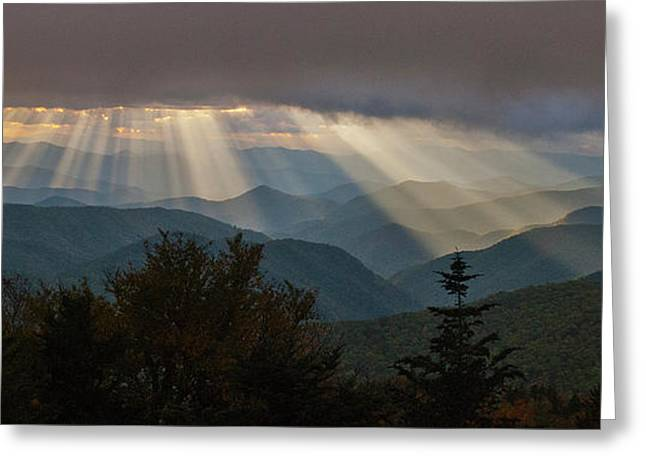 Greeting Card featuring the photograph Crepuscular Rays by Rick Hartigan