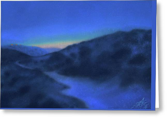 Crepuscule Or Los Penasquitos Canyon Xiv Greeting Card by Robin Street-Morris