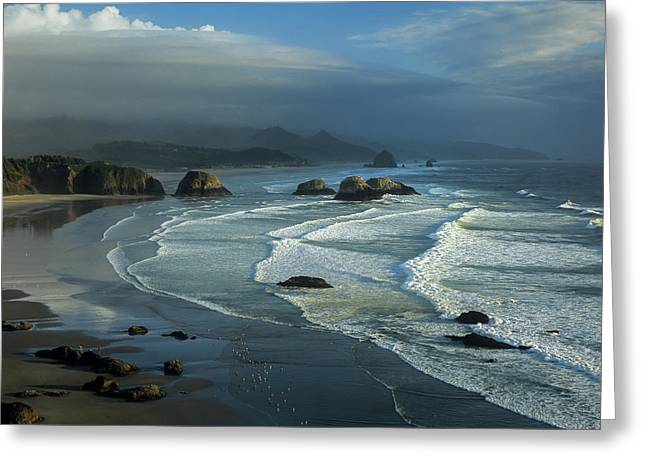 Crescent Beach And Surf Greeting Card