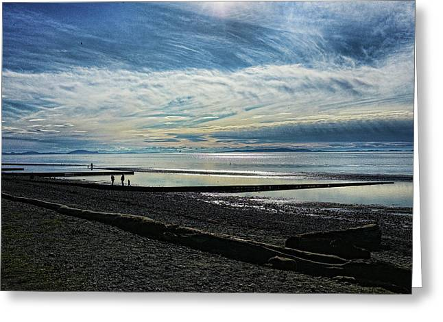 Crescent Beach At Dusk Greeting Card