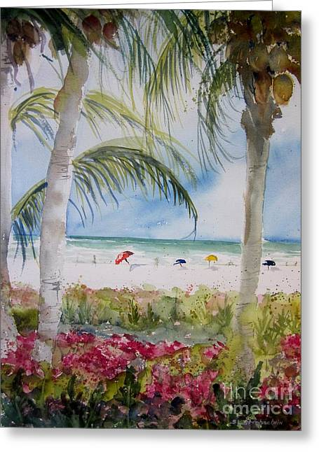 Crescent Beach Marco Island Greeting Card