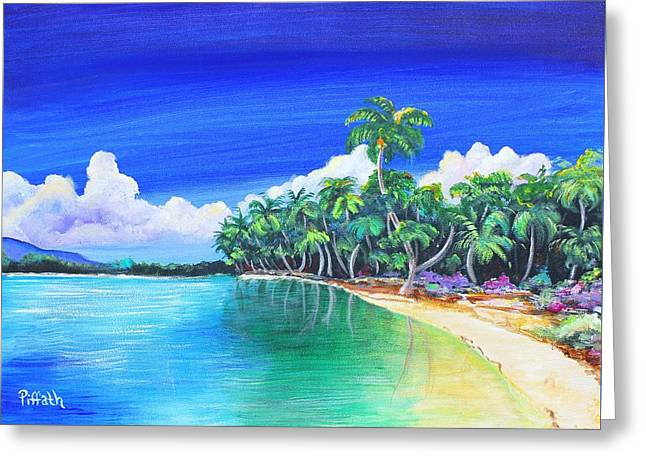 Greeting Card featuring the painting Crescent Beach by Patricia Piffath
