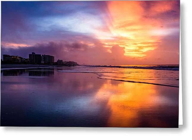 Crescent Beach Sunrise Greeting Card